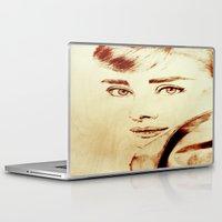 audrey hepburn Laptop & iPad Skins featuring Audrey Hepburn by Farinaz K.