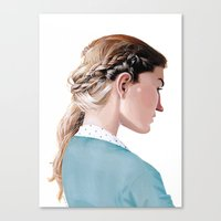 Blond Girl Canvas Print