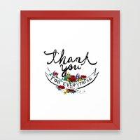 Merci Framed Art Print