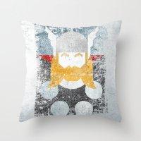 God Of Thunder Grunge Su… Throw Pillow