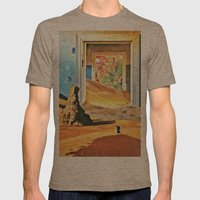 Through the Door Mens Fitted Tee Tri-Coffee SMALL