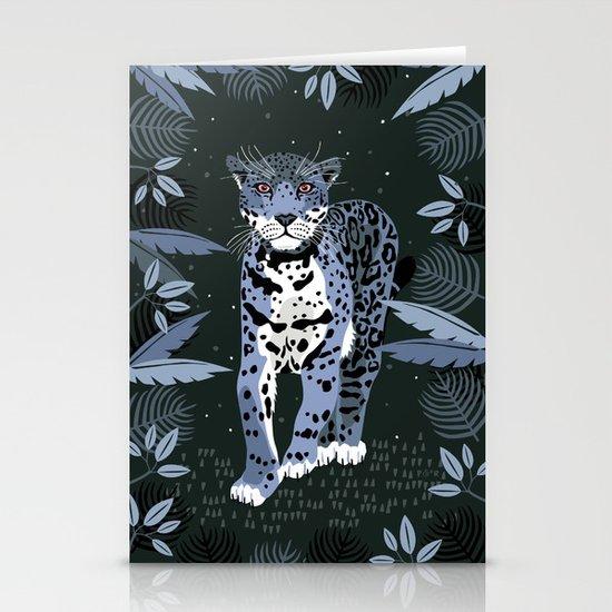 Midnight Jaguar Stationery Card
