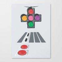 N Street Traffic Light Canvas Print