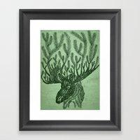 Moose-fir Framed Art Print