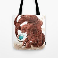 Space Brontosaurus  Tote Bag