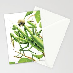 Safe sex for mantis Stationery Cards