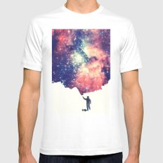 Painting the universe Mens Fitted Tee White SMALL