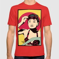 Audrey Mens Fitted Tee Red SMALL