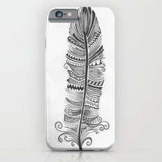 Black and White Feather Zen Slim Case iPhone 6s