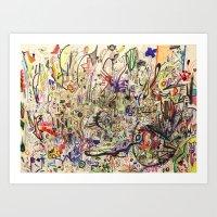 Crowded Art Print
