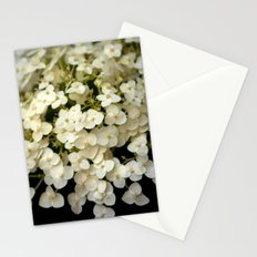 Tiny White Hydrangeas (In Color) Stationery Cards