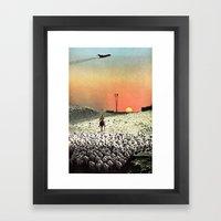 Sheep Flights For The Hu… Framed Art Print
