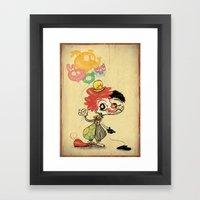 The Clown / Balloons Framed Art Print