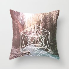 River Triangulation Throw Pillow
