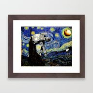 Starry Night Versus The … Framed Art Print
