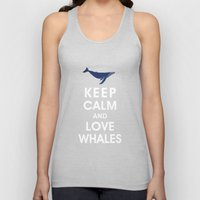 Keep Calm and Love Whales Unisex Tank Top