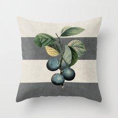 Botanical Stripes - Plum… Throw Pillow