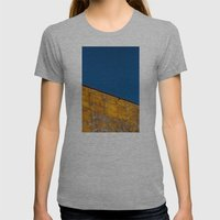 yellow-blue Womens Fitted Tee Athletic Grey SMALL
