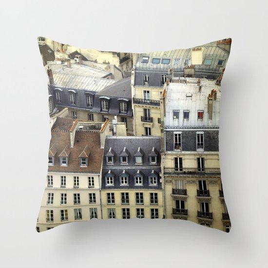 Paris Rooftop #2 Throw Pillow