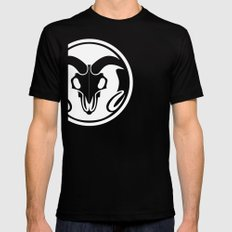 Day of the Ram White Mens Fitted Tee SMALL Black