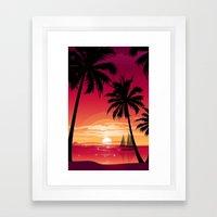 Sunset Six Framed Art Print