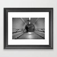 Empty London Underground stairs Framed Art Print