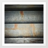 Wood Iron Rust Art Print
