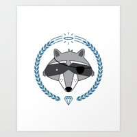 Mr. Raccoon Art Print