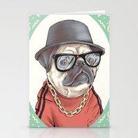 90's Pug rapper Stationery Cards