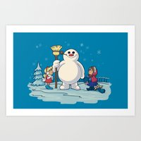 Let's Build A Snowman! Art Print