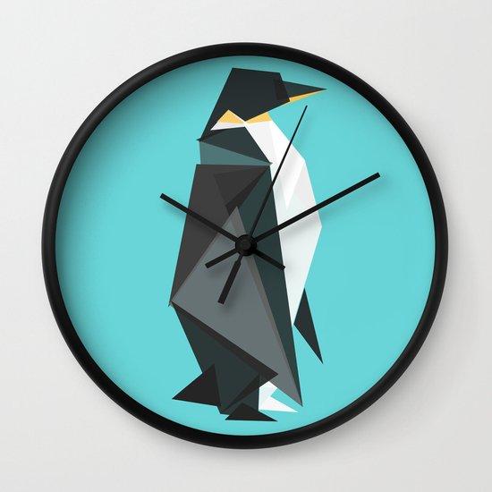 Fractal geometric emperor penguin Wall Clock