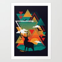 New Ridges Art Print