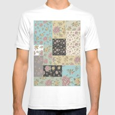 Mantón de Colores Mens Fitted Tee SMALL White