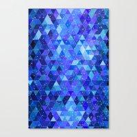 Space blue Canvas Print