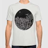 The Night Mens Fitted Tee Silver SMALL