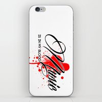 Music is in my Blood iPhone & iPod Skin