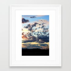 Endless sky Framed Art Print