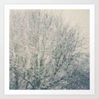 Falling Snow ...  Art Print