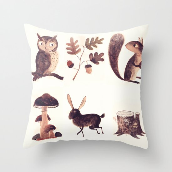 What you might find in the forest Throw Pillow
