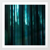 Forest In Emerald Green Art Print