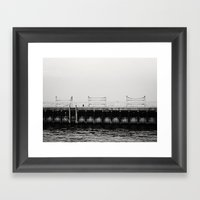 Chicago's Diversey Harbo… Framed Art Print