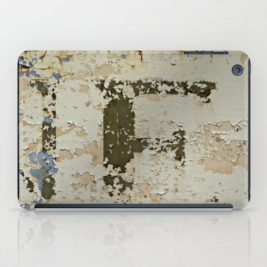 IF a Picture Paints -- Peeling Paint and Rust Texture Abstract iPad Case