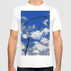 Birds Flying High SMALL White Mens Fitted Tee