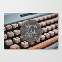 Write Your Story Canvas Print