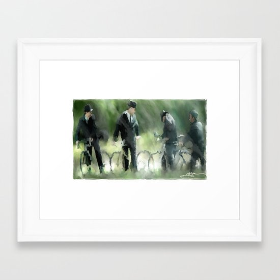 Wheel Trouble Framed Art Print