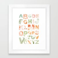 Animal Alphabets Framed Art Print