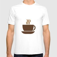 Hot Drinks Available. Mens Fitted Tee White SMALL