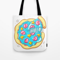 Blue Pizza Tote Bag
