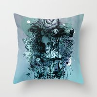 Doom and Bloom Throw Pillow