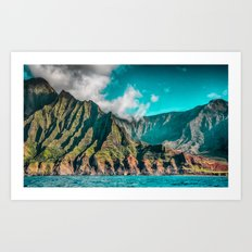 Na' Pali Coast, Kauai, Hawaii Art Print